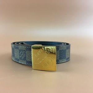 Preowned Louis Vuitton Damier Ebene Buckle Belt